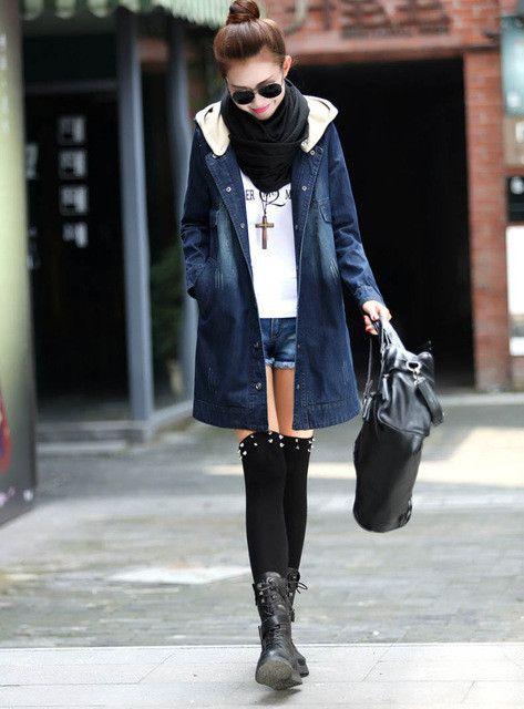 Desigual jeans jacket women water-wash denim jacket hooded plus size coats jaqueta feminina jeans motocicleta jaquetas colegial