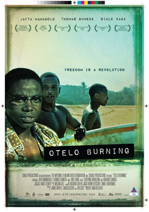 """Forceful coming-of-age story set circa 1989, against the backdrop of the violent beginning of apartheid's end, Otelo Burning examines different paths to freedom—finding it in moments of escape, fighting others for it—and the significant costs inherent in each approach."" <-- AMAZING film!!!! Seriously...."