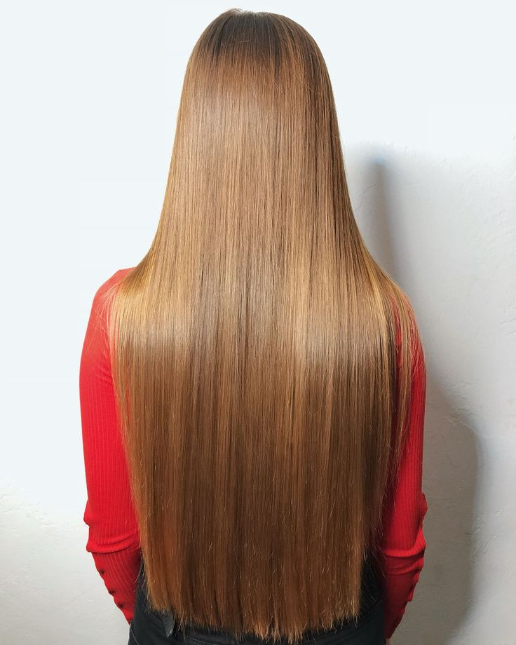 Картинки прямых волос со спины разница или