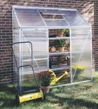 "Mini Polycarbonate Lean-To Greenhouse Size: 6' 5"" H x 6'3"" W x 2'2"" D by Juliana Greenhouses. $289.00. Mini3 Size: 6' 5"" H x 6'3"" W x 2'2"" D Features: -Designed to easily attach to your home, garage, or shed.-Single sliding door and roof vent provide extra ventilation.-Aluminum framing built to withstand all weather conditions and designed to last for many years.-4 mm twin-wall polycarbonate panels are unbreakable and provide effective insulation.-12 Year manufacturer guarantee. ..."