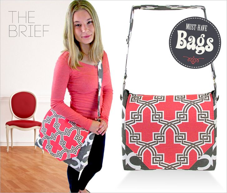 Messenger Style :: free pattern and tutorial: Must-Have Bags with Fabric.com | Sew4Home