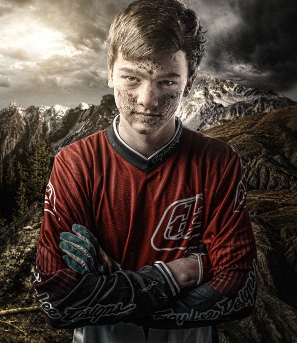Downhill mountainbiker by Marius Beck Dahle