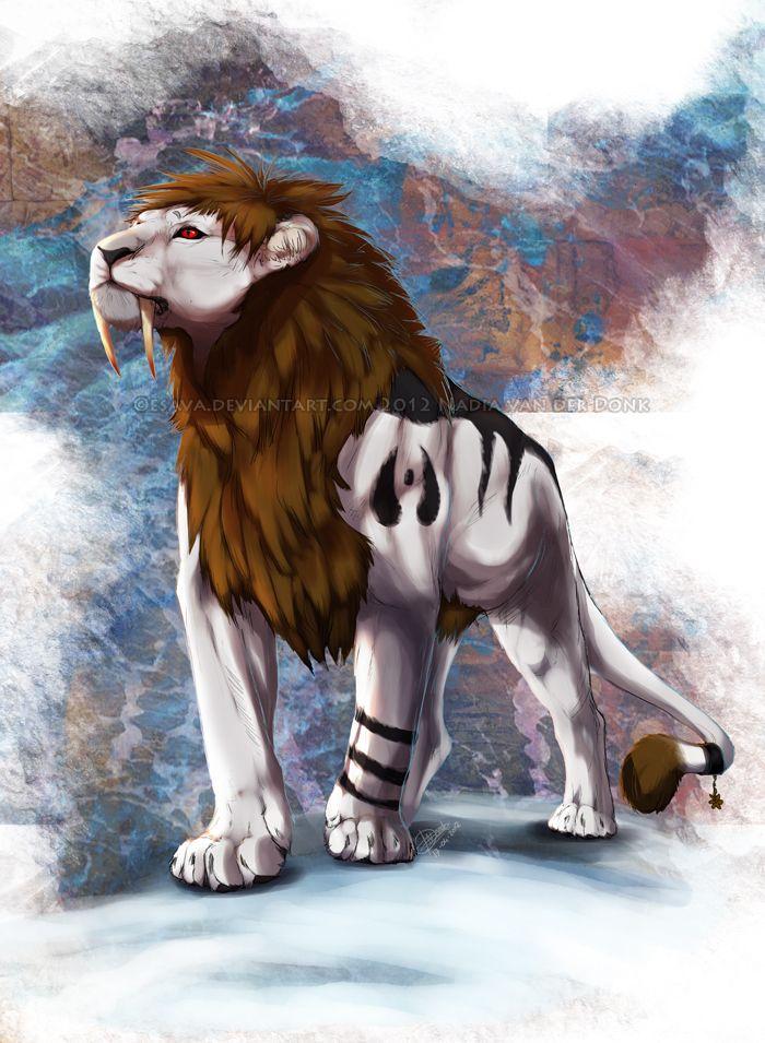 Картинки львов и тигров аниме