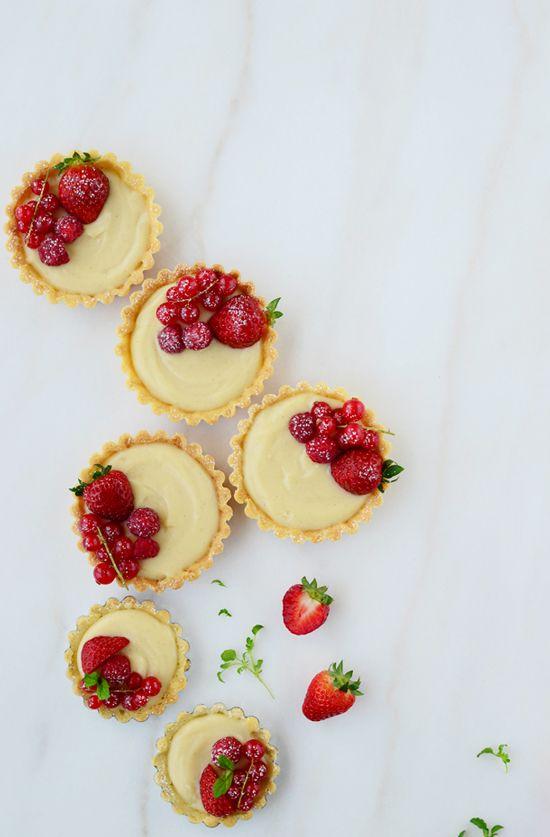 Receta de tartaletas de crema pastelera con frutas rojas - Megasilvita