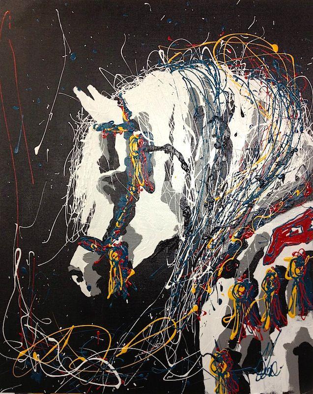 'Arabian Knight 2' by Missy M Contemporary Art for Sale - ART101 Art Gallery & Framing
