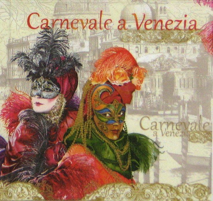4 x Single Luxury Paper Napkins for Decoupage Craft Vintage Carnevale a Venezia #Decoupage