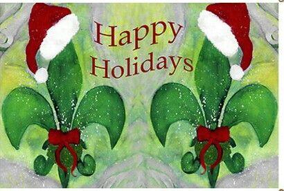 Saints Fleur de lis Happy Holidays