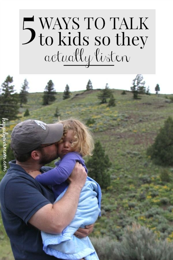 5 ways to get kids to listen - perfect for preschoolers and under. MUST pin this one!