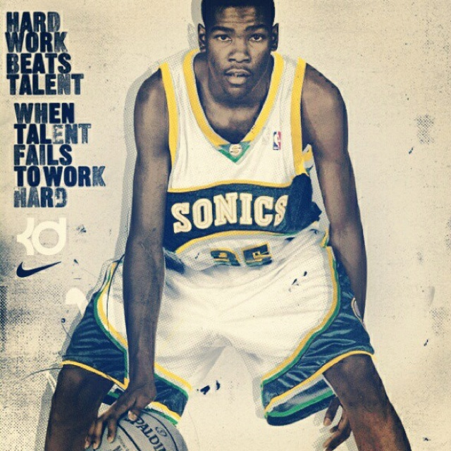 Hard Work Beats Talent Quotes: Kevin Durant Quotes. QuotesGram