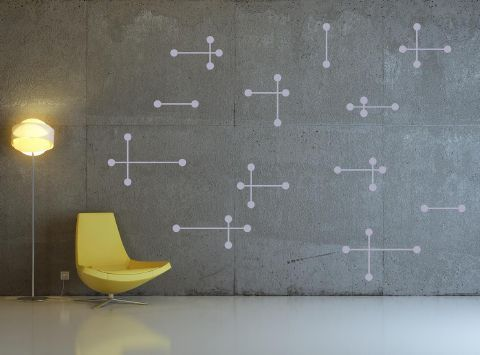 Another good shape for chalk board. Atomic Wall Stickers
