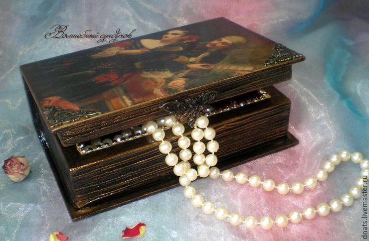 """Купить Книга-шкатулка """"Испанские страсти"""" - книга ручной работы, шкатулка-книга, шкатулка деревянная"""