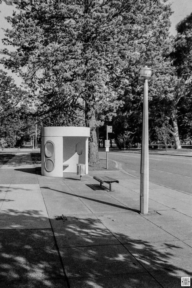 https://flic.kr/p/23zNwux | City | My Canberra - on film mainly in the city centre, back in 2014  ... classic concrete bus stops and the light poles...  Olympus XA, Kodak T-Max 100  www.pavelvrzala.com