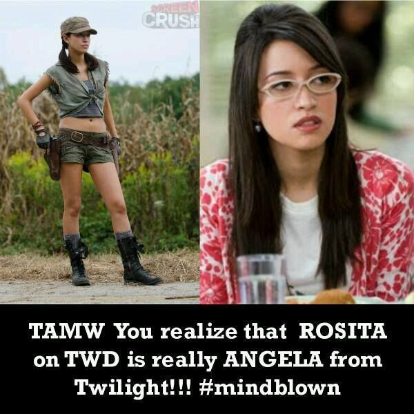 Wow, she's definitely moving up in the acting world. Rosita - The Walking Dead