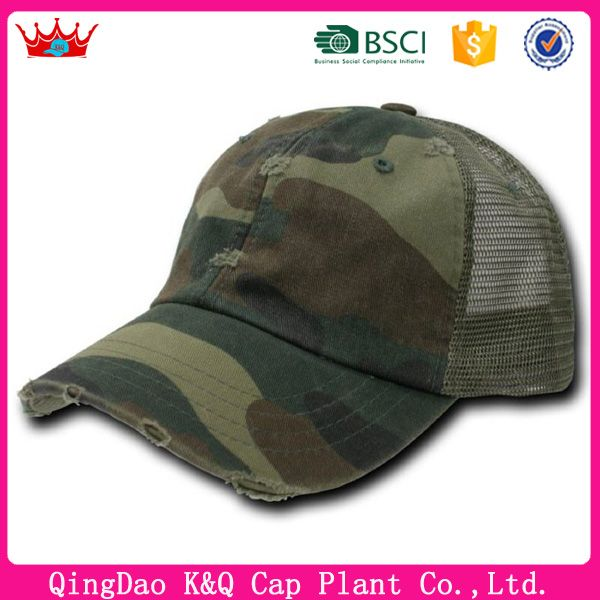 Green Camouflage Vintage Washed Adjustable Mesh Trucker Baseball Cap Hat  One Size Fits Most Plastic snap closure Washed cotton Imported