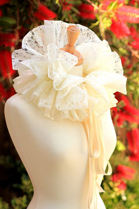Victorian Collar in Ivory Lace - Alice in Wonderland Fashion by Mademoiselle Mermaid, $58.00