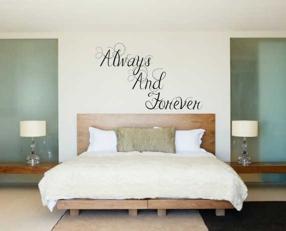 Items Similar To Always And Forever Wall Decal Couple Wall Decal Master  Bedroom Decal Wedding Decal Husband And Wife Decal Love Wall Decal On Etsy