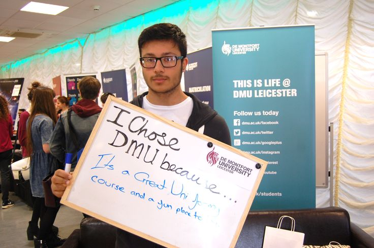 A first year student tells us why he chose De Montfort University Leicester.
