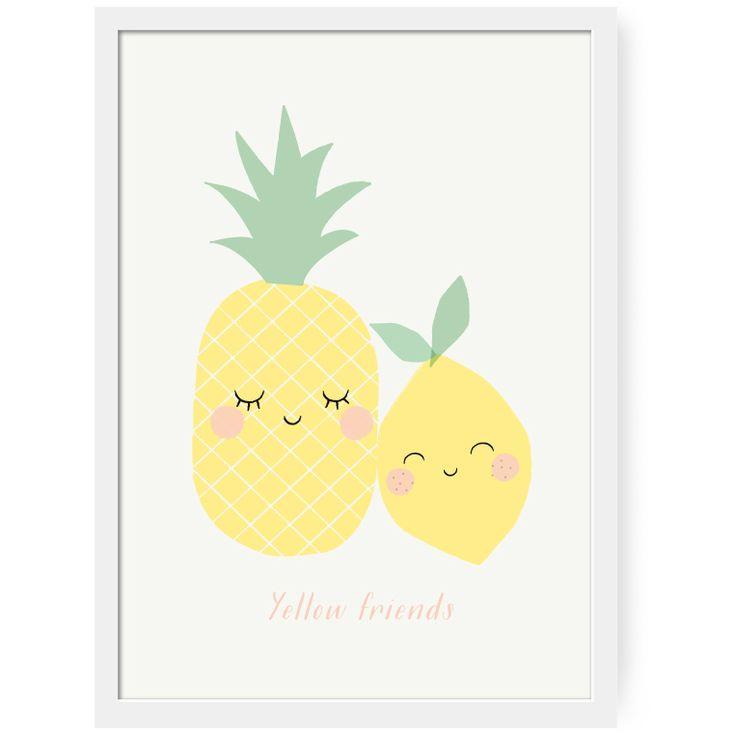 NEW ! Affiche Yellow friends | Zü