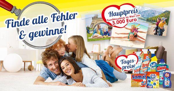 Finden Sie alle Fehler und sichern Sie sich bis zum 26.3. Ihre Chance auf einen Familienurlaub im Wert von 3.000 Euro sowie auf über 120 Tagespreise.