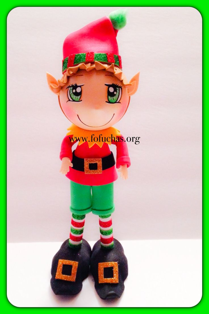 Santa's Little helper. Elf Fofucho Doll. Doll is made using foam sheets. He stands 10 inches tall. 100% handmade. Can be a perfect Holiday decoration/centerpiece, can also make a great one of a kind gift! To order visit fofuchas.org like us and see more at facebook.com/fofuchashandmadedolls  #Elf #Christmas #fofuchas
