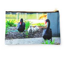 Black Swan Parade - Cob, Pen and their Cygnets Studio Pouch