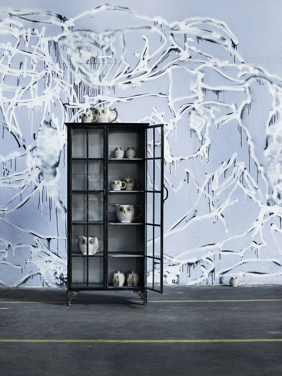 Large Metal Display Cabinet (Nezita) from Out There Interiors