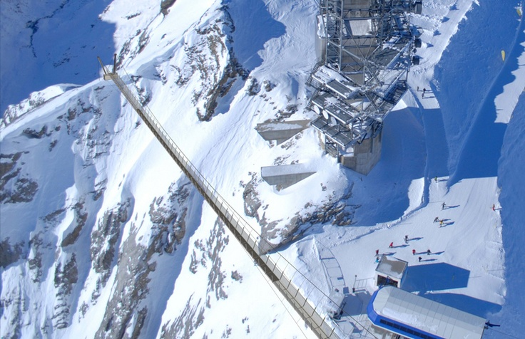 TITLIS Cliff Walk, highest suspension bridge in Europe - Mount Titlis, Engelberg, Switzerland