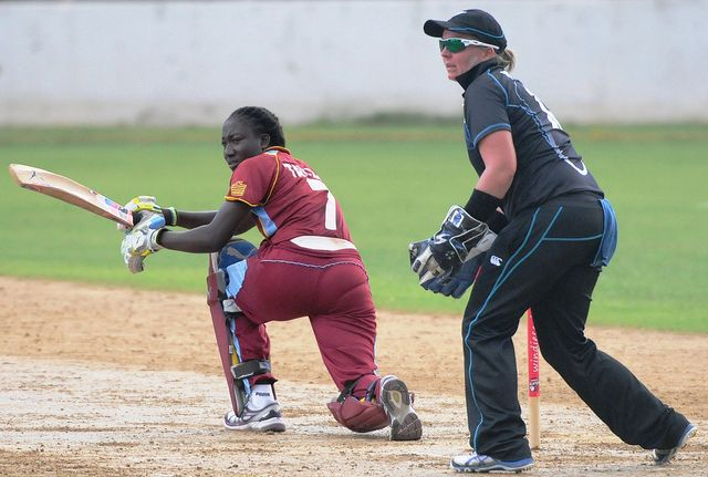 Stafanie Taylor in action against White Ferns