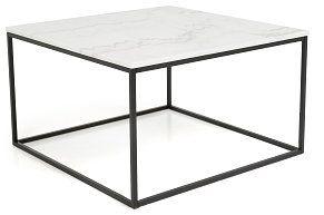 Sofabord Titania Hvit Marmor/Svart 75x75x45 cm