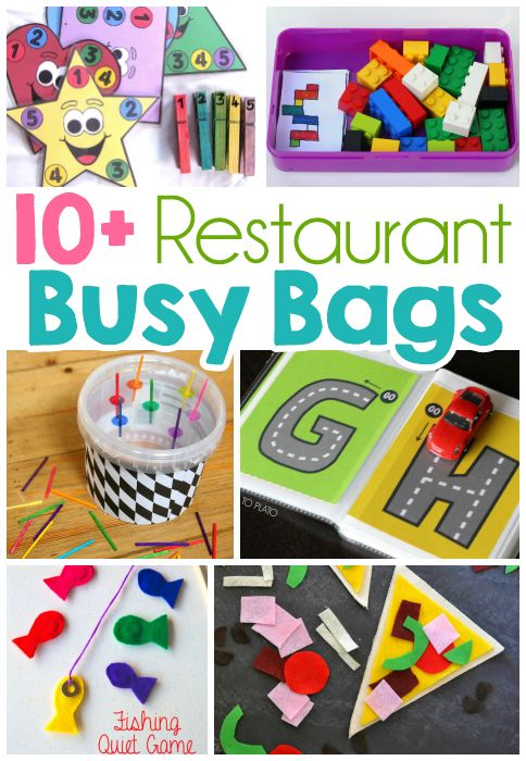 Restaurant Busy Bag Ideas For Toddlers #ad @crackerbarrel