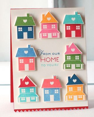 "A Papertrey Ink ""From Our Home To Yours"" card by Betsy Veldman using Holiday Home."