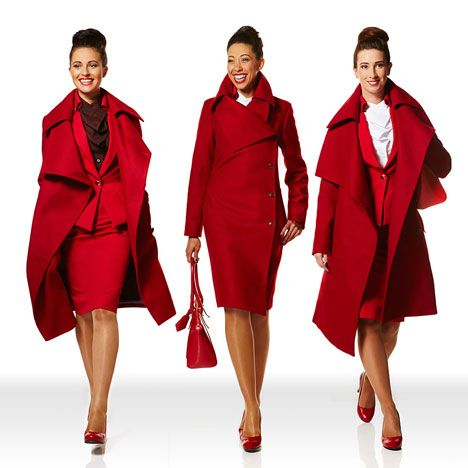 Vivienne Westwood launches Virgin Atlantic uniforms. Yup. This makes me want to be a flight attendant.