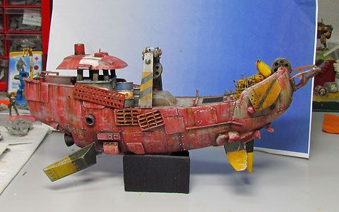 Flying boat - figafix Another Ian McQue inspired scratchbuild