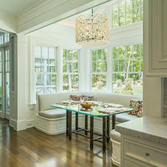 Oversized Breakfast Nook With Tons Of Window Space. Perfect For A Kitchen  That Needs Extra Seating Space. Part 93