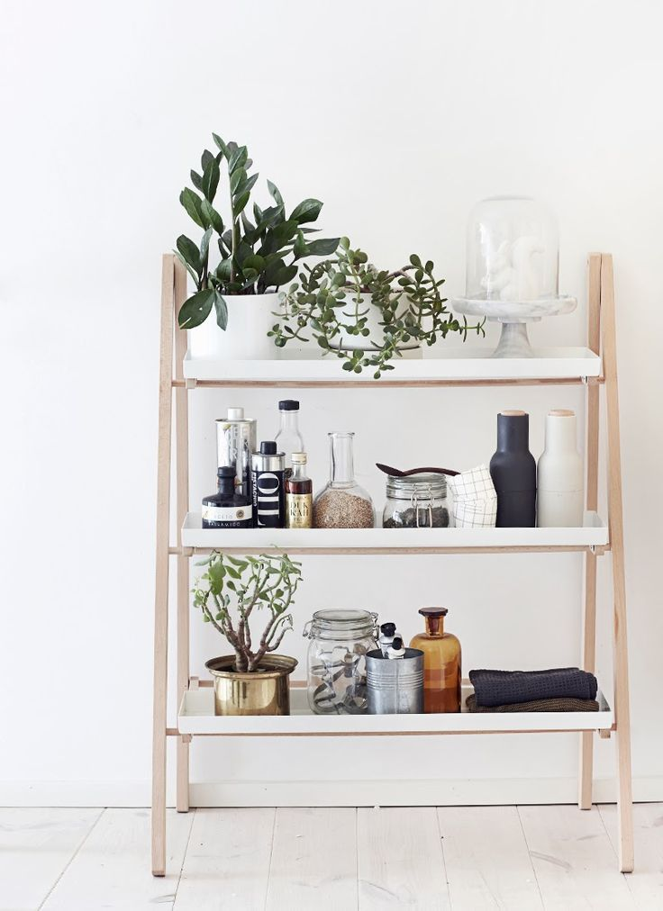 Mix Of White Wood Plants And Kitchen Equipment All Clean Lines Not A Lot Decorative Fussy Elements