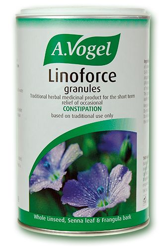 Linoforce Granules    - Relief of constipation  - Licensed herbal constipation remedy  - Contains linseed, senna and frangula – traditionally used as constipation remedies for many decades  300g - £12.99