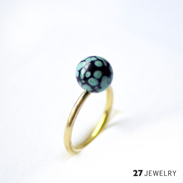 27jewelry handmade one of a kind lampwork glass ring