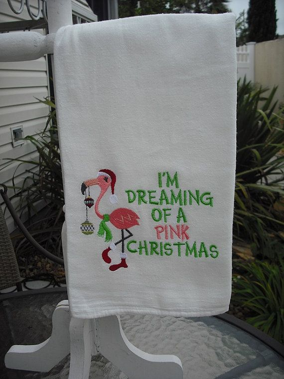 Hey, I found this really awesome Etsy listing at https://www.etsy.com/listing/204730811/flamingo-christmas-flour-sack-towels