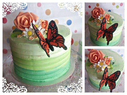 Tarta mariposa monarca