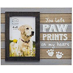 """""""You Left Paw Prints on My Heart"""" Dog Picture/ Photo Frame"""