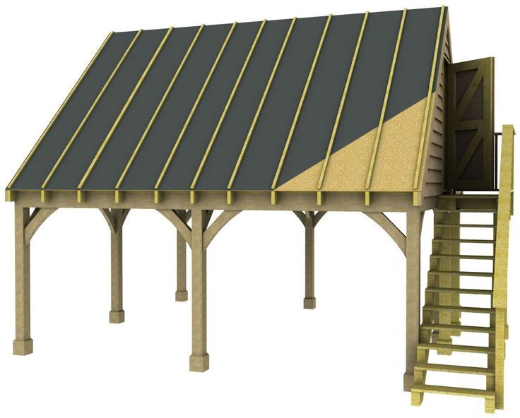 Double Carport with Room Above Basic Kit (as supplied without options)