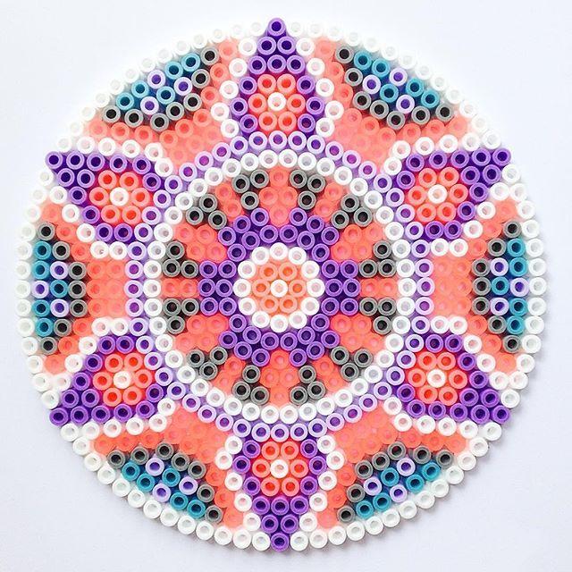 Mandala hama perler beads by  coriander_dk