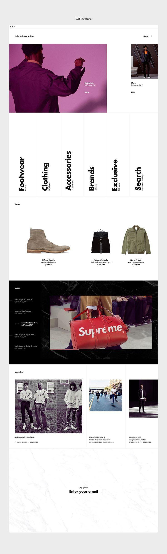 Drop branding and website on Behance