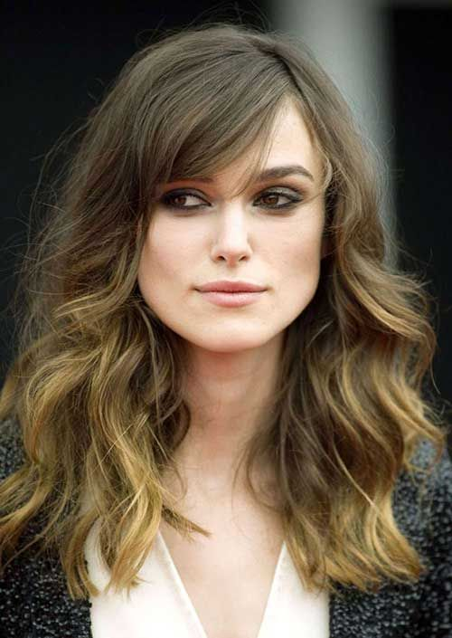 Keira Knightley Haircuts for Thick Wavy Hair