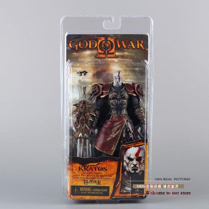 Высокое Качество NECA Бог войны 2 II Кратос в Ares Armor Вт Лезвия 7 ПВХ Фигурку Игрушки Куклы Chritmas Подарков MVFG147