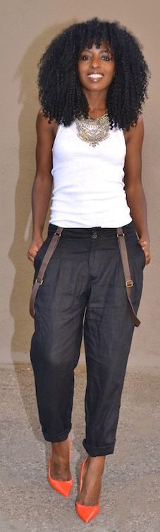 ♥Topman Brown Clipped Boyfriend Suspenders by Style Pantry