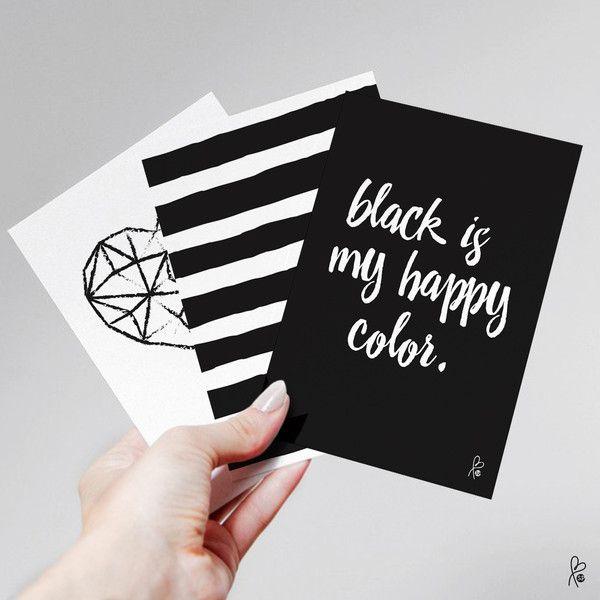 """Karten-Set """"schwarz/weiß""""/ Printable A6"""