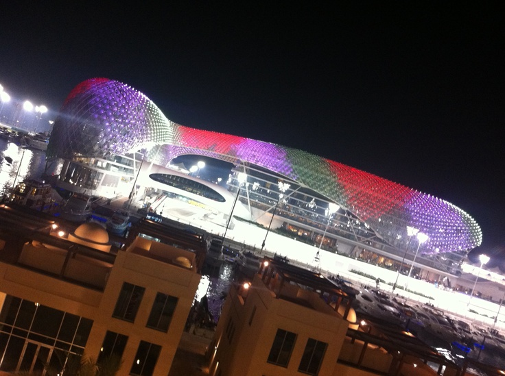 Amazing @yasviceroy hotel just after the #f1 race in Abu Dhabi.
