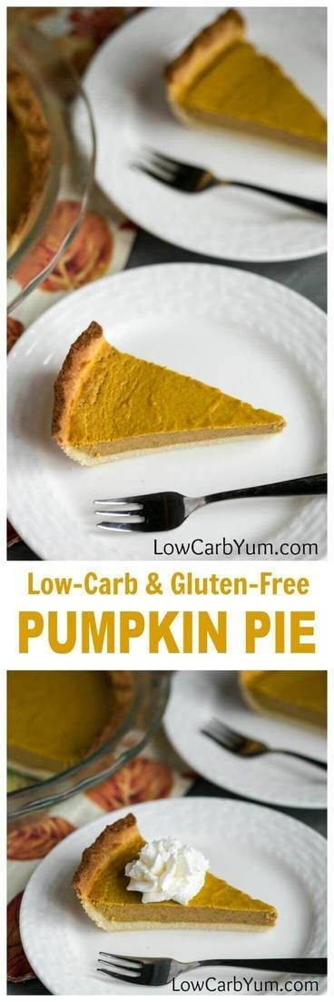 A delicious low carb pumpkin pie recipe that no one will be able to tell it's also sugar free! Great for any occasion or holiday.    LowCarbYum.com via @lowcarbyum