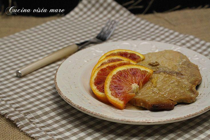 Fettine+di+maiale+all'arancia+nella+slow+cooker